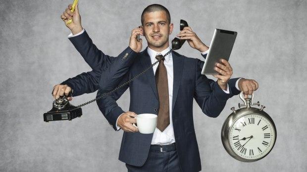 Zapracowany-manager